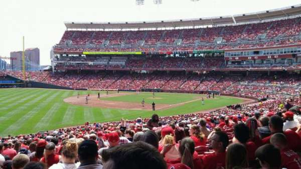 Great American Ball Park, section: 110, row: NN, seat: 12