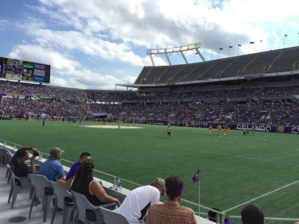 Camping World Stadium, section: 101, row: A, seat: 8