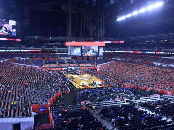 Lucas Oil Stadium, section: 402, row: 1, seat: 1