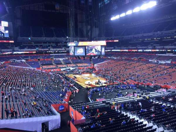 Lucas Oil Stadium, section: 403, row: 1, seat: 1