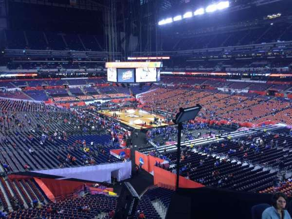 Lucas Oil Stadium, section: 404, row: 1, seat: 1
