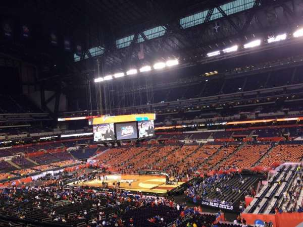 Lucas Oil Stadium, section: 408, row: 1, seat: 1