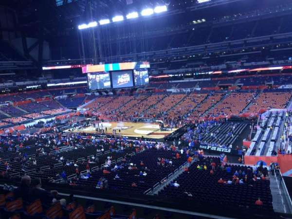 Lucas Oil Stadium, section: 409, row: 1, seat: 1