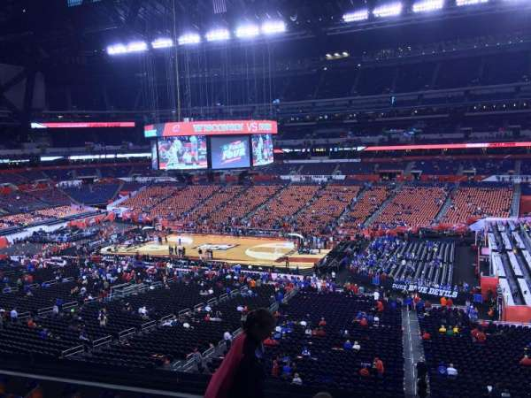 Lucas Oil Stadium, section: 410, row: 1, seat: 1