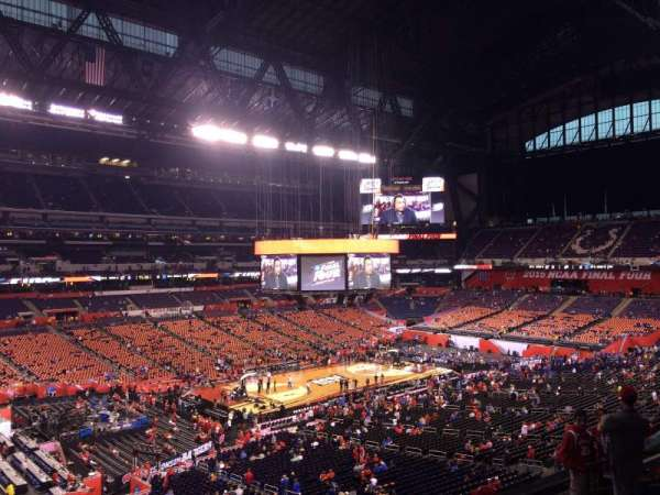 Lucas Oil Stadium, section: 418, row: 1, seat: 1