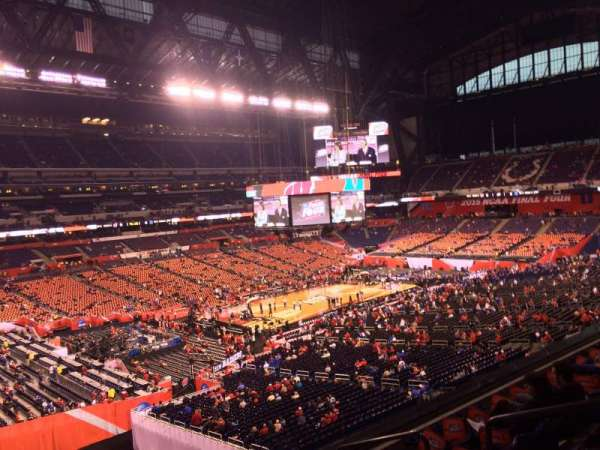 Lucas Oil Stadium, section: 419, row: 1, seat: 1