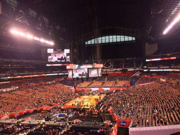 Lucas Oil Stadium, section: 424, row: 1, seat: 1