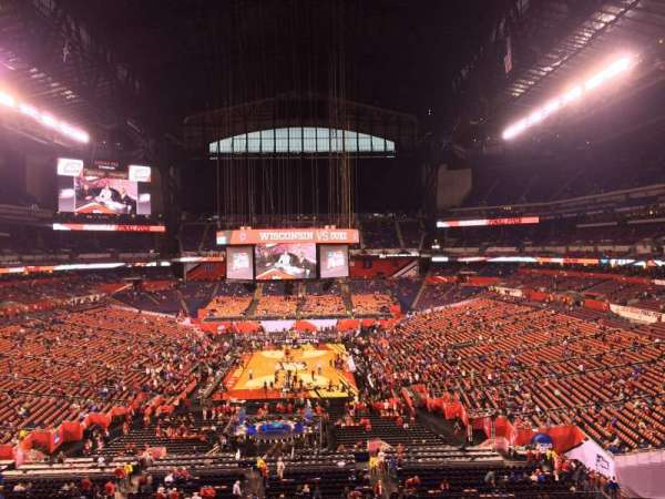 Lucas Oil Stadium, section: 427, row: 1, seat: 1