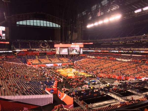 Lucas Oil Stadium, section: 430, row: 1, seat: 1