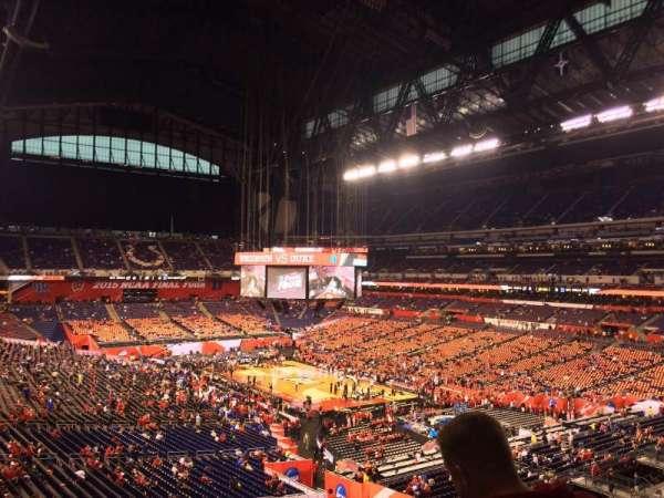 Lucas Oil Stadium, section: 431, row: 1, seat: 1