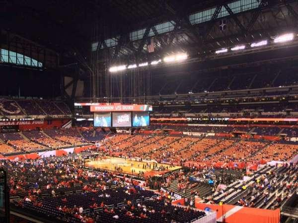 Lucas Oil Stadium, section: 434, row: 1, seat: 1