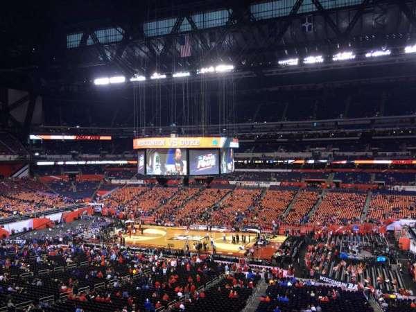 Lucas Oil Stadium, section: 437, row: 1, seat: 1