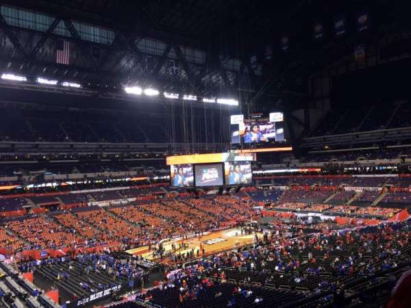 Lucas Oil Stadium, section: 445, row: 1, seat: 1