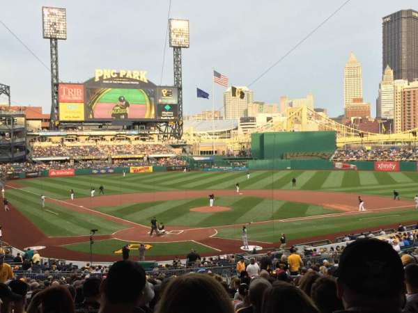 PNC Park, section: 115, row: EE, seat: 12