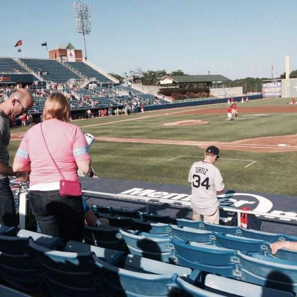 Salem Memorial Ballpark, section: 113, row: H, seat: 10