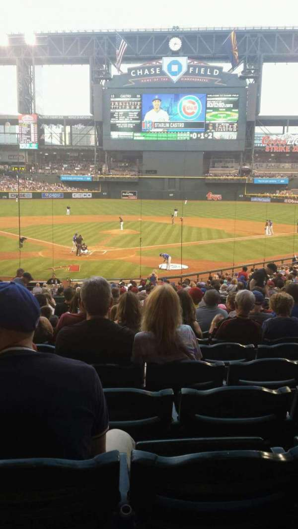 Chase Field, section: I, row: M, seat: 7