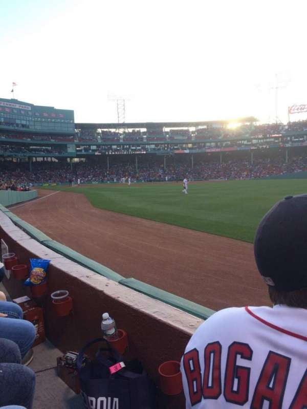 Fenway Park, section: Right Field Box 3, row: F, seat: 10