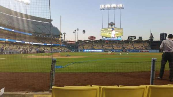 Dodger Stadium, section: 4dg, row: 4