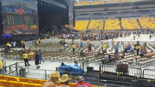 Heinz Field, section: 109, row: G, seat: 1-2