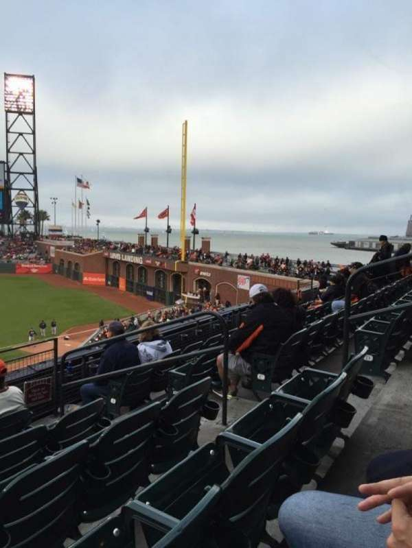 Oracle Park, section: 207, row: E, seat: 6