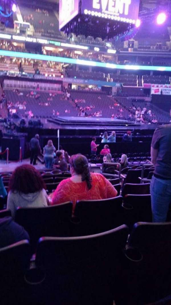 Spectrum Center, section: 115, row: J, seat: 6