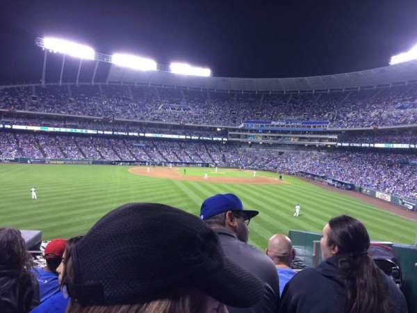 Kauffman Stadium, section: 203, row: E, seat: 16