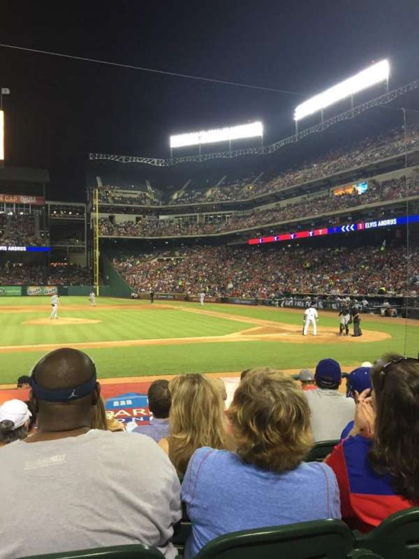Globe Life Park in Arlington, section: 20, row: 9, seat: 6