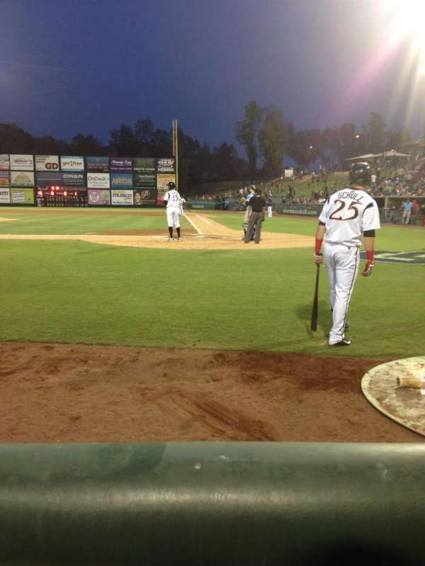 Lake Elsinore Diamond, section: 107, row: A, seat: 4