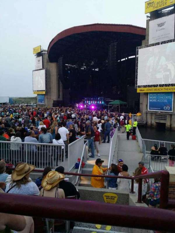 Jones Beach Theater, section: 1, row: F, seat: 1