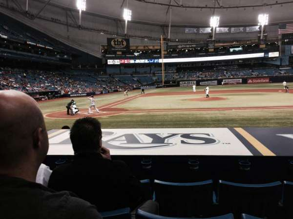 Tropicana Field, section: 112, row: N, seat: 5