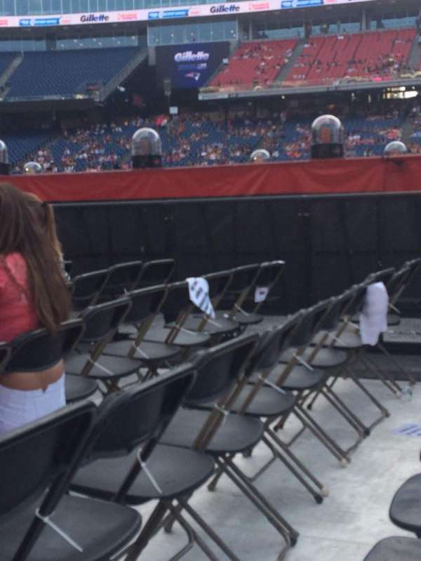 Gillette Stadium, section: B3, row: 7, seat: 10