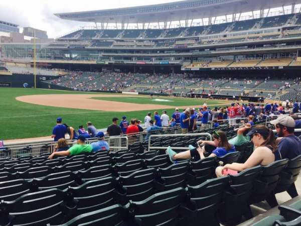 Target Field, section: 17, row: 12, seat: 8