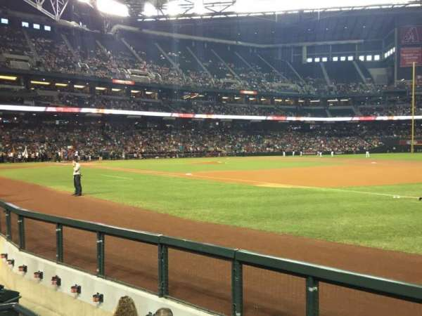 Chase Field, section: A, row: C, seat: 12
