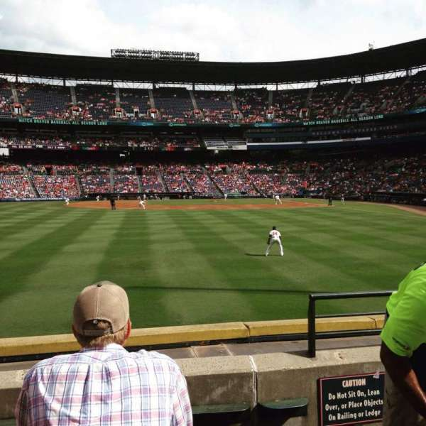Turner Field, section: 138L, row: 16, seat: 104