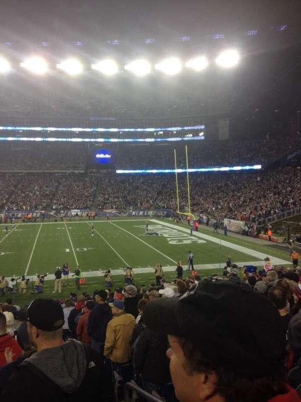 Gillette Stadium, section: 130, row: 21, seat: 1