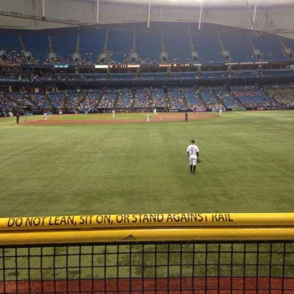 Tropicana Field, section: 144, row: U, seat: 10