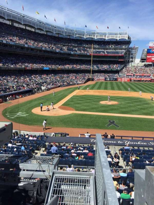 Yankee Stadium, section: 217, row: 1, seat: 1