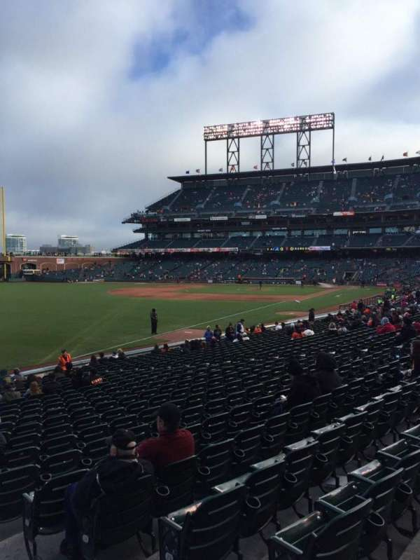 Oracle Park, section: 131, row: 22