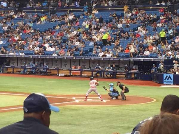 Tropicana Field, section: 121, row: W, seat: 10