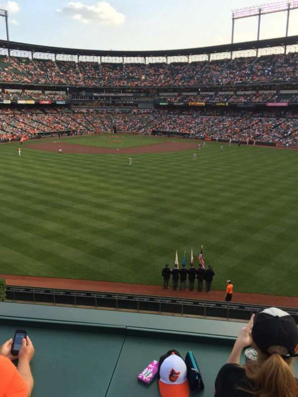 Oriole Park at Camden Yards, section: Deck, row: 2, seat: 19