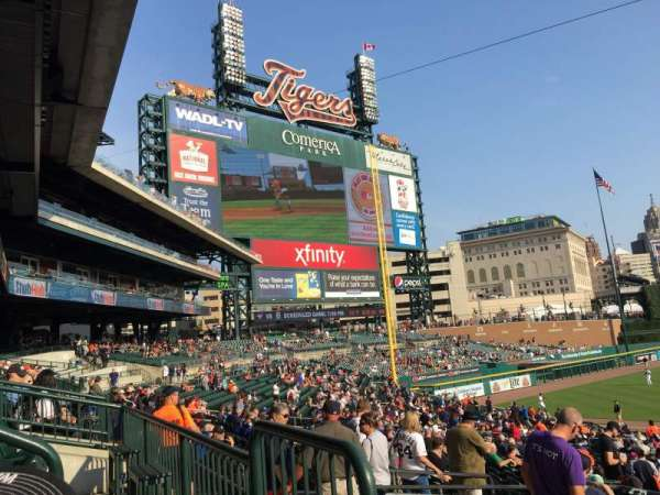 Comerica Park, section: 138A, row: A, seat: 1
