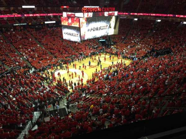 Toyota Center, section: 414, row: 2, seat: 2