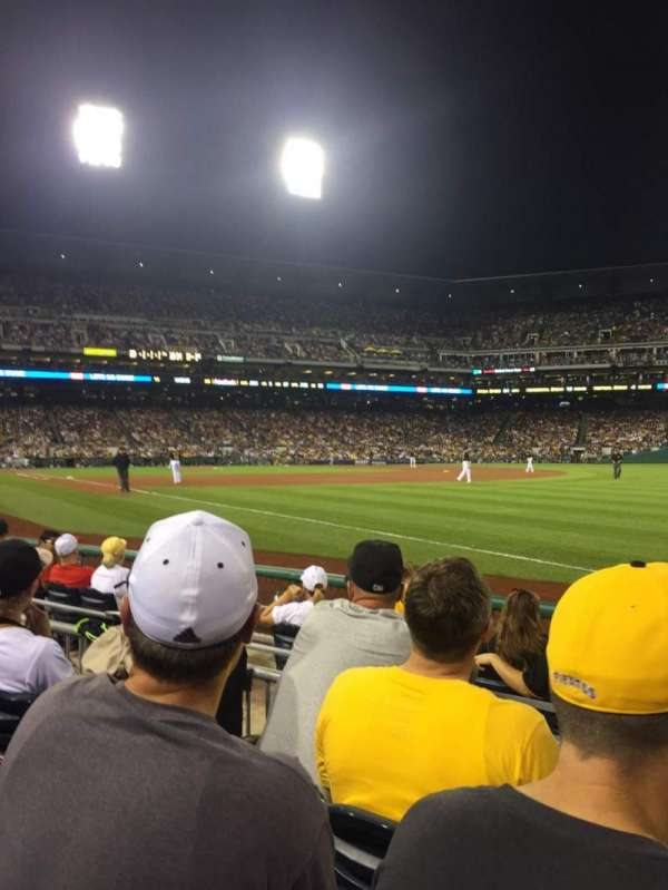 PNC Park, section: 2, row: F, seat: 6