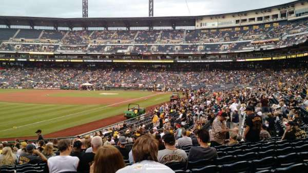 PNC Park, section: 130, row: M, seat: 19