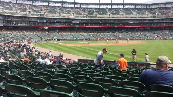 Comerica Park, section 113, home of Detroit Tigers