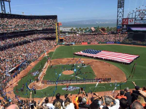 Oracle Park, section: VR310, seat: 3