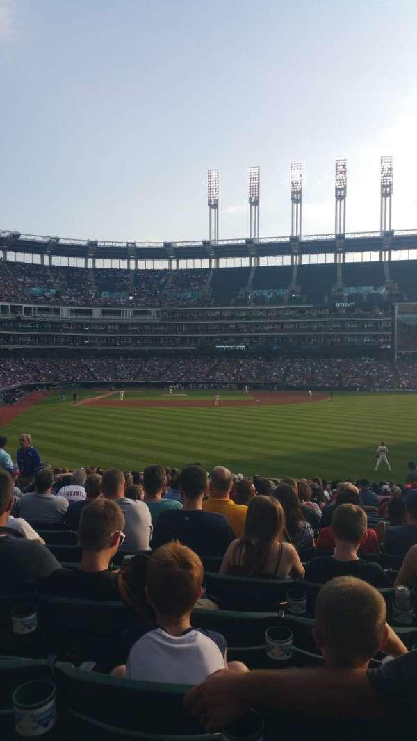 Progressive Field, section: 111, row: z, seat: 4