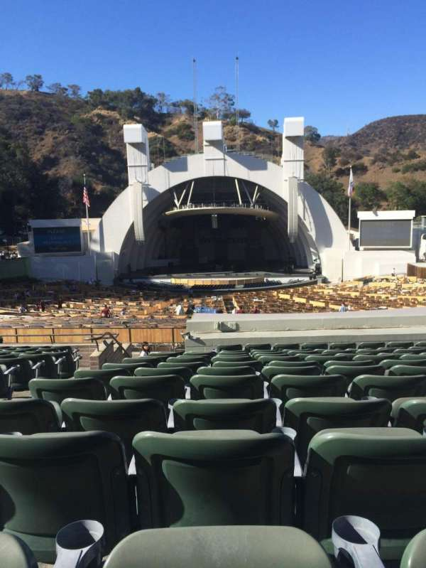 Hollywood Bowl, section: G1, row: 16, seat: 25