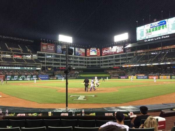 Globe Life Park in Arlington, section: 25, row: 3, seat: 6