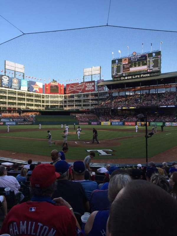 Globe Life Park in Arlington, section: 25, row: 8, seat: 2